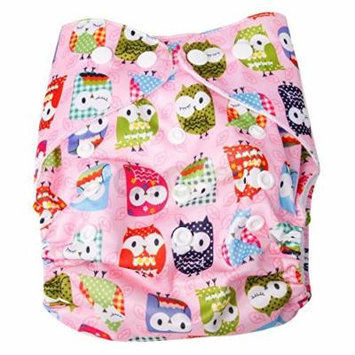 New Baby Girls Infant Pocket Colth Diaper Nappy Washable Print Cover + 2 Inserts