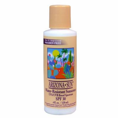 Arizona Sun Water Resistant Sunscreen SPF 30 - 4 oz -Total Sun Protection Lotion - Natural Sunblock Cream - Face and Body Sun Screen - Sun Block