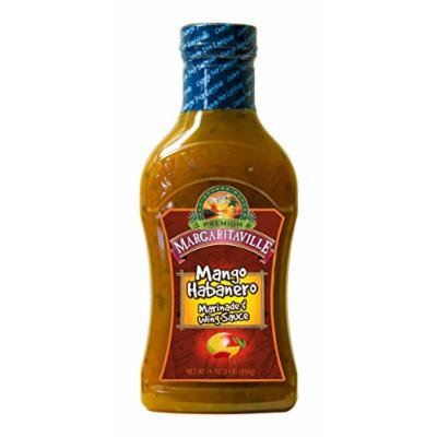 Margaritaville Marinade and Wing Sauce, Mango Habanero, 16 Ounce