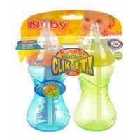 Nuby Grip n' Sip 2-Pack Straw Sippers - orange/multi, one size