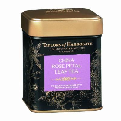 Taylors of Harrogate China Rose Petal Leaf Tea, Loose Leaf, 4.41-Ounce Tins (Pack of 2)