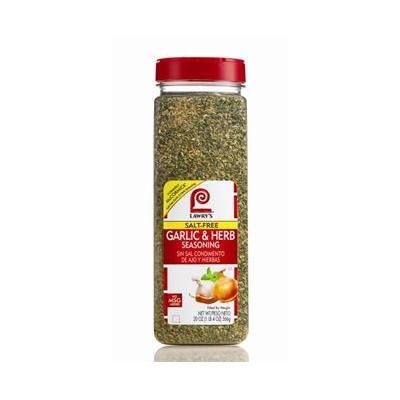 Lawry's Salt Free Garlic & Herb Seasoning, No Added MSG, 20 ounce shaker