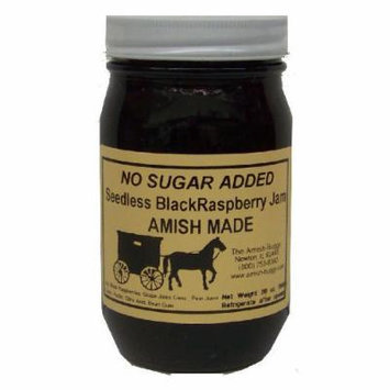 Amish Buggy No Sugar Added Raspberry Jam, Black, 16 Ounce (Pack of 12)