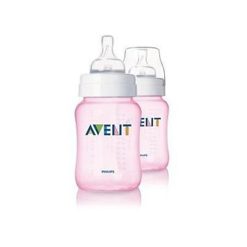 Philips Avent Limited Edition Pink Girls Baby Bottles 2 Pack 260ml New Scf684/27 Great Gift for Baby Free Shipping Ship Worldwide
