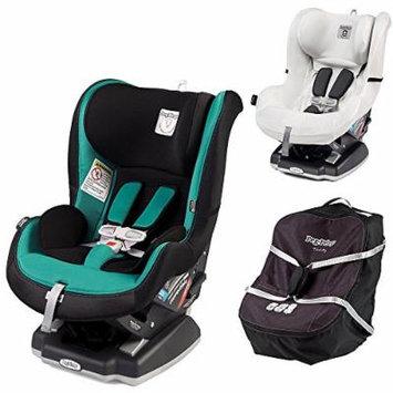 Peg Perego Primo Viaggio Infant Convertible Car Seat w Car Seat Travel Bag & Clima Cover, White (Aquamarine)