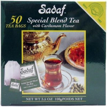 Sadaf Special Blend tea with Cardamom, 50-Count (Pack of 4)
