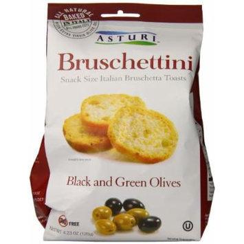 Asturi Bruschettini, Black and Green Olives, 4.23 Ounce