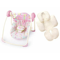 Bright Starts Flutter Dot Portable Swing with Infant Head & Body Support