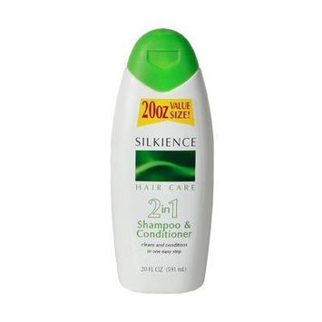 Silkience 2 in 1 Shampoo and Conditioner 20 oz. (Pack of 2)