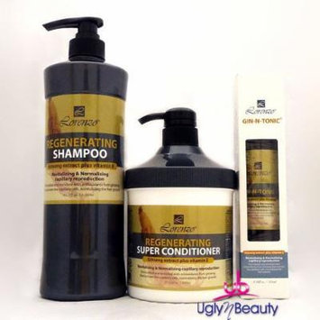 Lorenzo Regenerating Shampoo + Super Conditioner + Gin-N-Tonic Hair Care Set