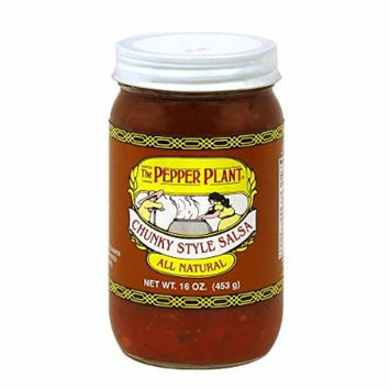 The Pepper Plant All Natural Chunky Style Salsa 16 Ounce Jar
