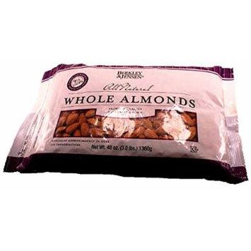 Berkley & Jensen All Natural Whole Almonds, 3 Pound