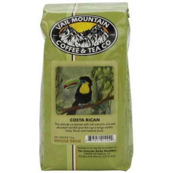 Vail Mountain Coffee & Tea Costa Rican Whole Bean Coffee, 12-Ounce Bags (Pack of 3)