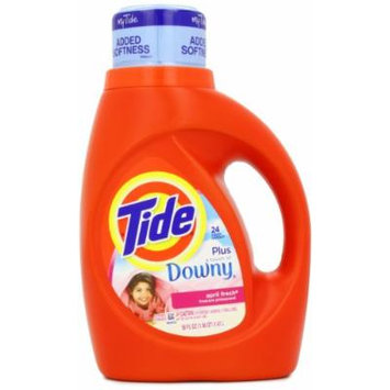 Tide with Touch of Downy High Efficiency April Fresh Scent Detergent, 50 Ounce (Pack of 2)