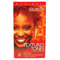 Clairol Text & Tone #6R Ruby Rage Kit (3-Pack) with Free Nail File