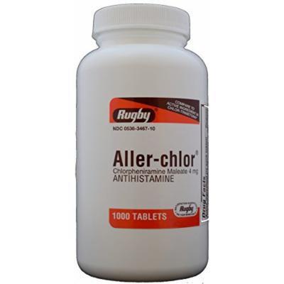 Chlorpheniramine Maleate 4mg Generic for Chlor-Trimeton Allergy 1000 Tablets per Bottle