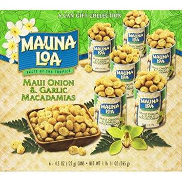 Mauna Loa Macadamias, Maui Onion & Garlic, 4.5-Ounce Containers (Pack of 6)