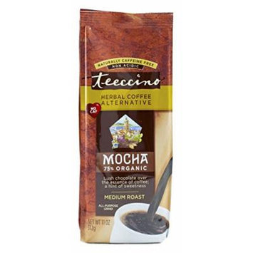 Teeccino Mocha Herbal Coffee Alternative, Caffeine Free, Acid Free, 11oz (Pack of 3)