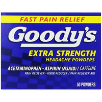 Goody's Extra Strength Headache Powders, 50 Count Pack of 4