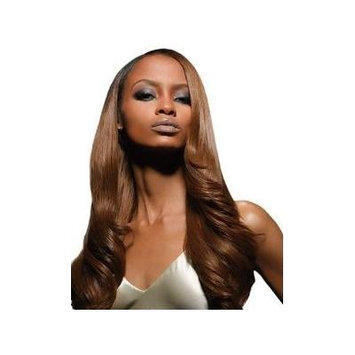 Velvet Remi Human Hair Weave - Yaki Weaving (14 inch, F4/27 - Light Brown/Honey Blonde)