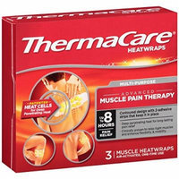 ThermaCare Pain Therapy Heat Wraps, Muscle, 3 Count