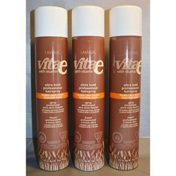 Lamaur Vita-e Ultra Hold Professional Hairspray 55% VOC 10 oz (3 pack)