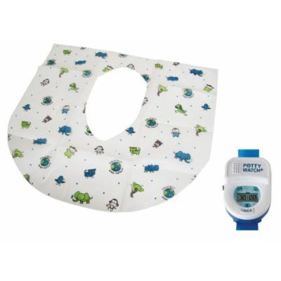 Summer Infant Keep Me Clean Disposable Potty Protectors 10-Pack with Potty Watch Timer Training Aid, Blue