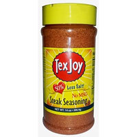 TexJoy Seasonings 4.75-16oz Containers (Pack of 3) (50% Less Salt & NO MSG Steak Seasoning 14oz)