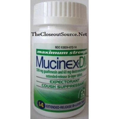 Mucinex DM Expectorant and Nasal Decongestant 1200 Mg Tablets, Maximum Strength, 14 Extended Release Bi-Layer Tablets