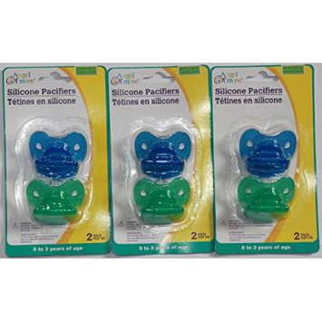 Silicone Pacifiers Multi Pack - 2 Pcs in a Pack, Blue and Green