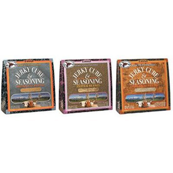 Hi Mountain Jerky Cure & Seasoning Variety Pack - Original, Pepper Blend, and Mesquite