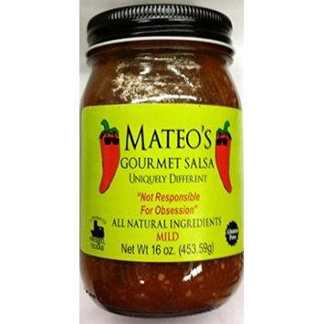 Mateo's Gourmet Salsa 16 Oz (Pack of 2) (Mild)