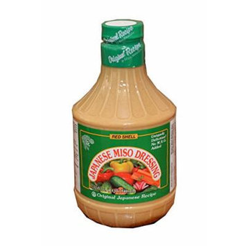 Red Shell Japanese Miso Dressing, 32fl.oz (Pack of 1)