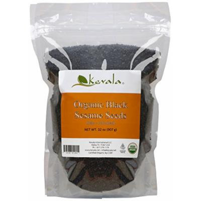 Kevala Organic Black Raw and Unhulled Sesame Seeds, 2 Pound