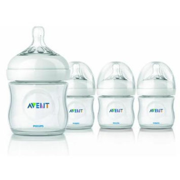 Philips AVENT BPA Free Natural Polypropylene Bottle, 4 Ounce, 4 Pack