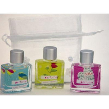 Love & Toast Little Luxe Trio #1 Perfume Set - Includes Honey Coconut, Paper Flower and Sugar Grapefruit