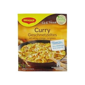 Maggi Curry Geschnetzeltes (Curry Gravy Mix for sliced Meat) 2 servings