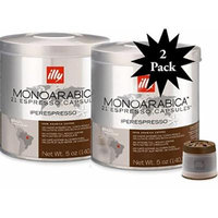 Illy Iper 42 count espresso capsules, Monoarabica Brazil, (2-Pack) two 21ct cans