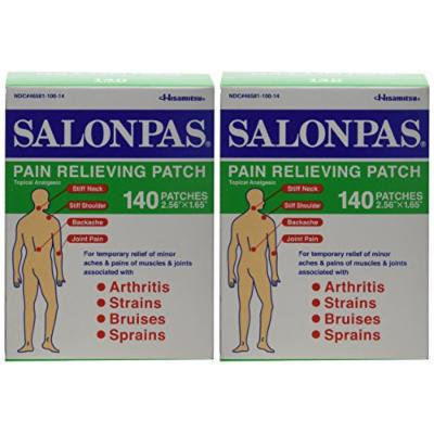Salonpas Pain Relieving Patch - 140 Count (Two Packages each of 140 Patches)