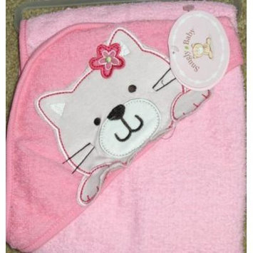 Soft Hooded Towel for Baby Pink Kitty Cat 100% Cotton