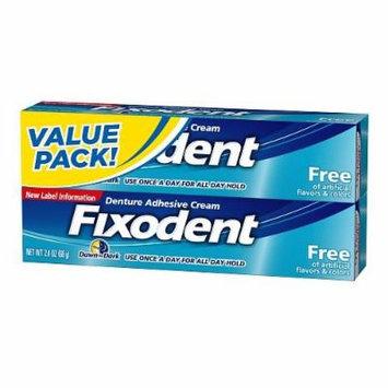 Fixodent Denture Adhesive Cream Free, Value Pack 2 ea