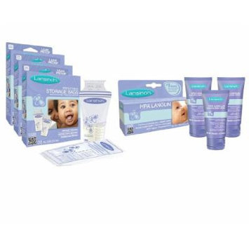 Lansinoh Breastmilk Storage Bags 25-Count, 3 Boxes with 3 HPA Lanolin For Breastfeeding Mothers
