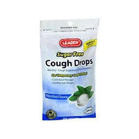 Leader Cough Drops Menthol, Sugar Free 25 CT (PACK OF 2)
