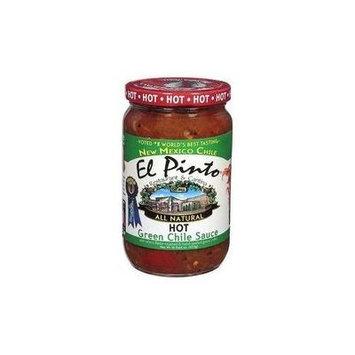 El Pinto Salsa Sauce 16oz Jar (Pack of 3) Choose Flavor Below (Green Chile Sauce - Hot)