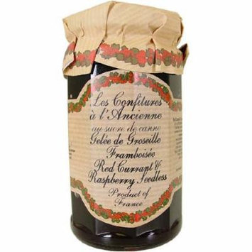 Red Currant and Raspberry Jam (Seedless) Andresy All natural French jam pure sugar cane 9 oz jar Confitures a l'Ancienne, One