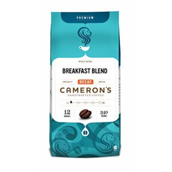 Cameron's Decaf Whole Bean Coffee, Breakfast Blend, 12 Ounce