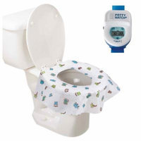 Potty Watch Potty Training Timer, Blue with Potty Protectors, 20 Pack
