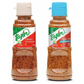 Tajin Seasoning Regular and Low Sodium Bundle (5 oz each)