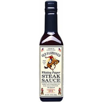 Old Fashioned Whiskey Pepper Steak Sauce, 10 oz (2 Pack)