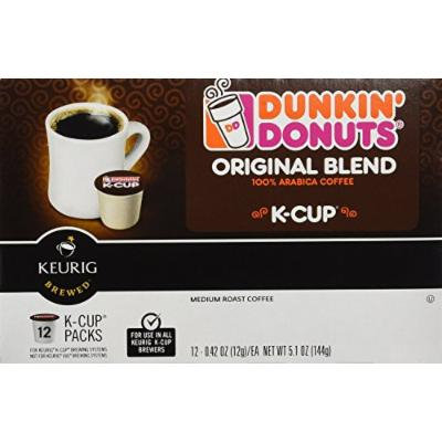 Dunkin Donuts K-Cups in Keurig Coffee Brewers, Original, 48 Count